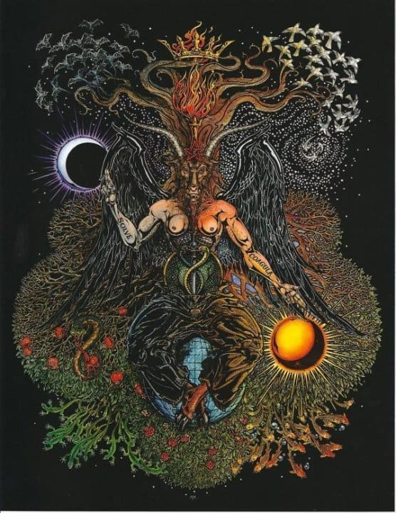 Baphomet 8 5 X 11 Full Color Poster Print By Maxine Miller
