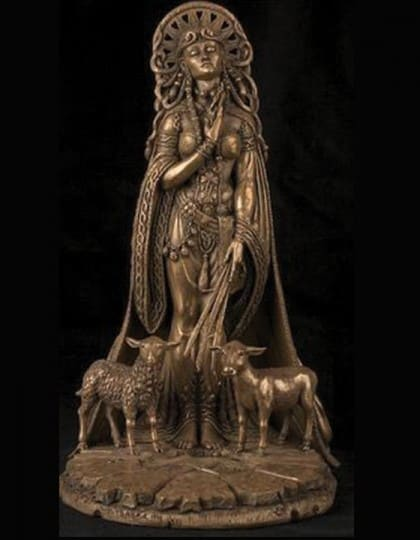 Celtic Goddess Brigid Statue Cold Cast Bronze by Maxine Miller ©Maxine Miller