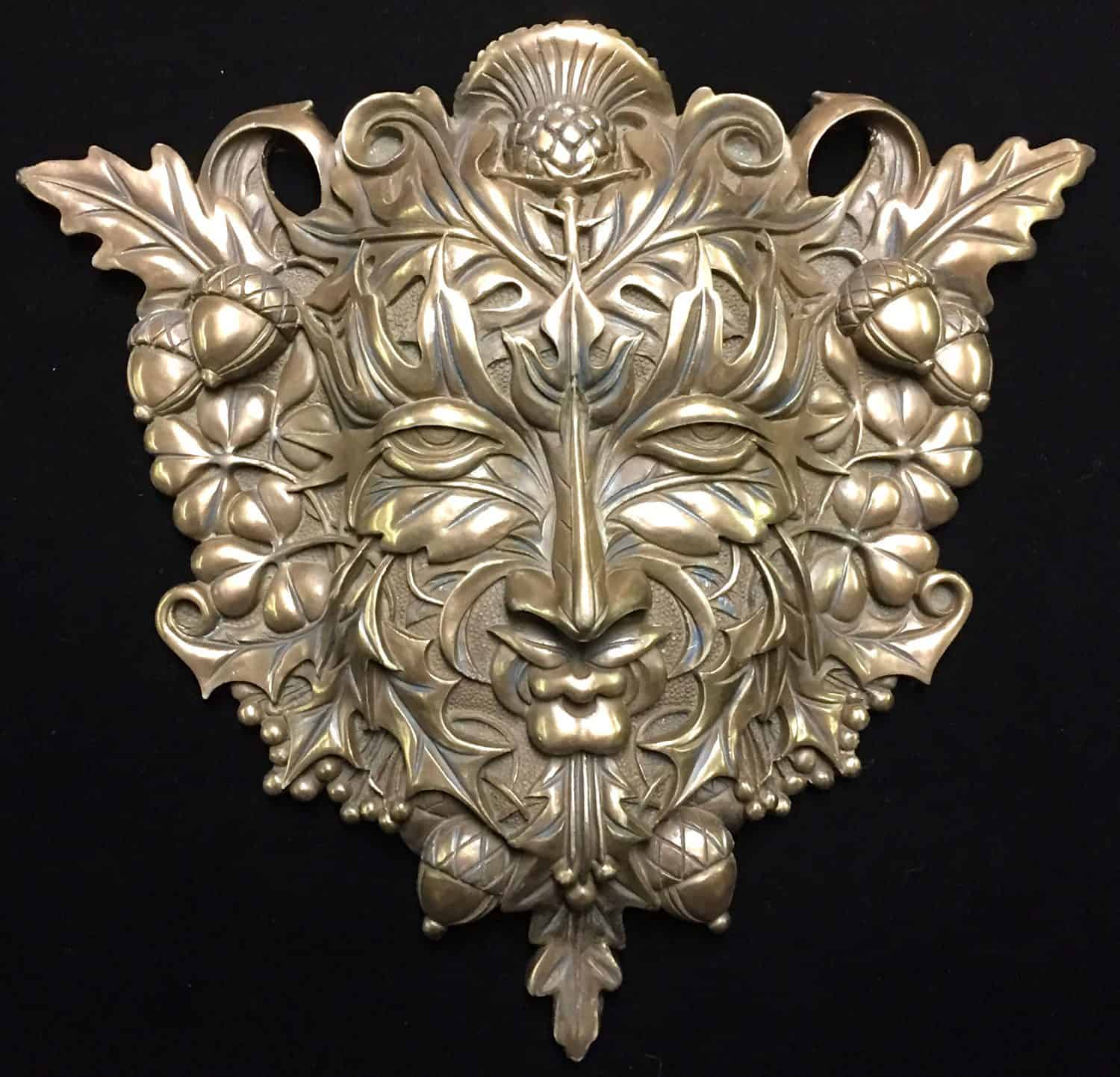 Celtic Greenman Armband: Green Man Wall Plaque (Cold Cast Bronze)