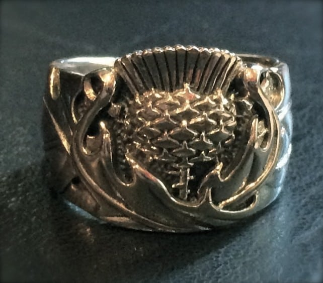 rings scottish thistle ring sterling silver celtic