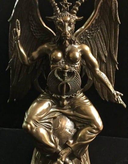 Baphomet Statue Cold Cast Bronze by Maxine Miller ©celticjackalope.com 1