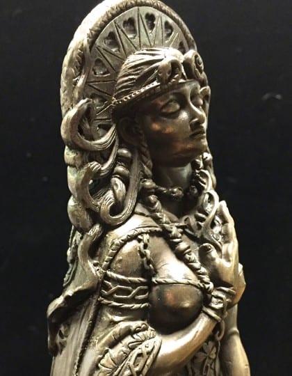 Celtic Goddess Brigid Statue Cold Cast Bronze by Maxine Miller ©Maxine Miller