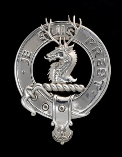 Clan Fraser of Lovat Clansman's Crest Badge Brooch .925 Sterling Silver by maxine Miller © CelticJackalope.com