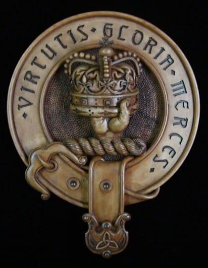 Clan Donnachaidh Crest Badge Wood Wall Plaque by Maxine Miller