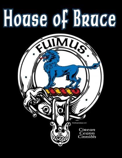 House of Bruce Crest Badge T-SHIRT Celtic Jackalope