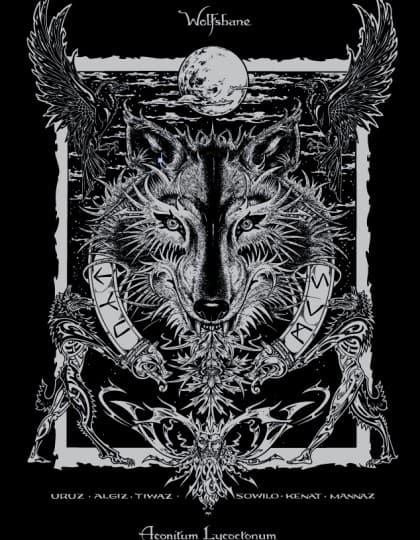 Wolfsbane Magical Botianicals Shirt by Maxine Miller ©celticjackalope.com