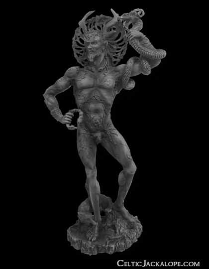 Celtic Horned God Cernunnos Statue Stone Finish Resin by Maxine Miller ©celticjackalope.com